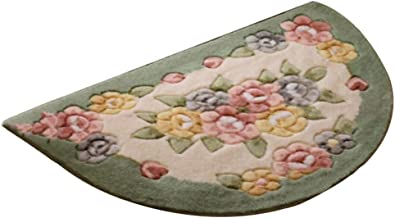 JIAJUAN Half Moon Doormat Entryway Rug Soft Washable Inside Door Mat, 5 Styles, 3 Sizes (Color : D, Size : 40x67cm)