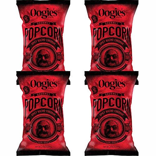 Buy Bargain Oogie's Spicy Nacho Cheddar Gourmet Popcorn 4.25 oz (Pack of 4)