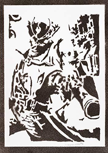 Bloodborne Poster The Hunter Plakat Handmade Graffiti Street Art - Aesthetic Artwork