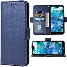 LOKTU100255 Black Lomogo Leather Wallet Case for Nokia 7.1 2018 with Stand Feature Card Holder Magnetic Closure Shockproof Flip Case Cover for Nokia7.1