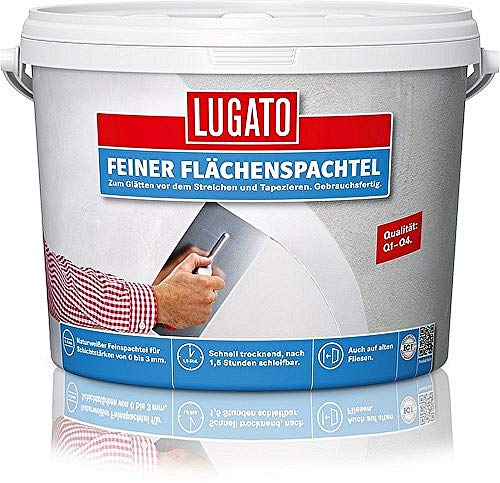 Lugato Feiner Flächenspachtel 5 kg - Glättet Wände und Decken