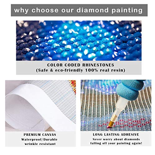 NEILDEN 5D DIY Diamond Painting Kits for Adults Full Drill Gem Art Crafts for Women Rhinestone Embroidery Arts Craft Home Decor 13.7×17.7 inch