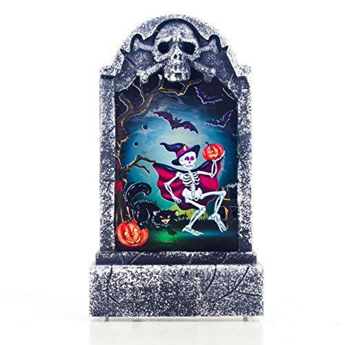 Forart Halloween Grabsteine ​​mit LED Licht Zubehör Figur Dekoration, Friedhof Schädel Grabstein Zeichen, Thema Party Supplies, Indoor Outdoor Rasen Prop