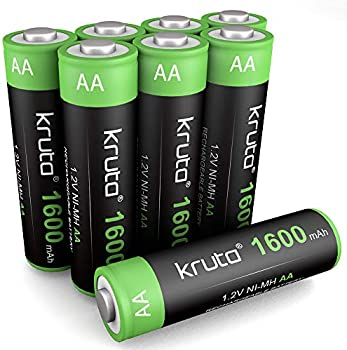 8-Pack Kruta Solar Lights AA 1600mah High Capacity Batteries