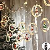 XIANGE100-SHOP Luces de Cadena de Navidad Luces de la Ventana de Navidad Novedad Luces Colgantes de Navidad Cortina de Navidad Luces de Cadena Guirnarldas (Emitting Color : Warm White)