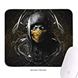 Poster-Mortal-Kombat-Scorpion- Mouse Pad Gaming Desk Supplies Rubber Mouse Pad with Wrist Support Extended Mouse Pad