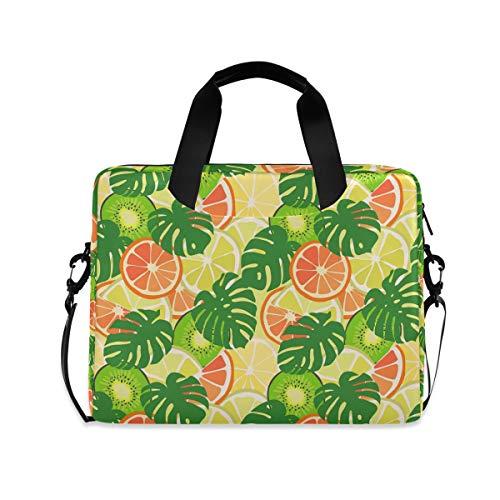iRoad 15.6 InchLaptop Bag Case Summer Lemon Banana Leaf Computer Case Laptop Sleeve Case with Shoulder Strap Bag for Women Men