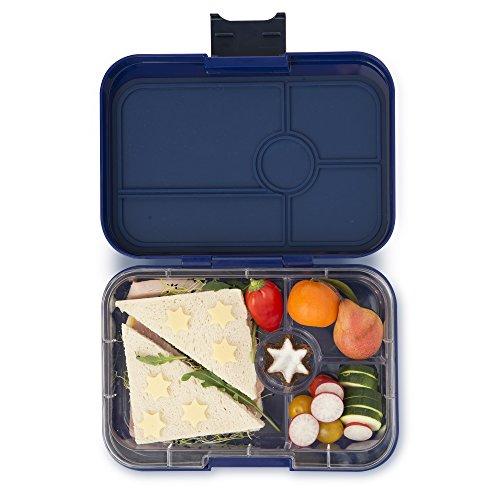 Yumbox Tapas XL Lunchbox – Bento Box für Erwachsene | Unterteilte Brotdose | Brotzeitbox mit Unterteilung | Auslaufsicher getrennte Fächer (Portofino Blue, 4er Explore)
