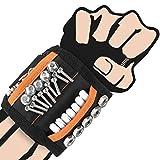 Pulsera Magnética,Muñequera Magnetica,Wristband Magnético Ajustable con 15 Súper Imanes,Cinturon De Herramientas De Bricolaje,Fija Fácilmente Tornillos,Clavos,Brocas,Gadgets para Hombres