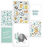 Papierschmiede® Kids Mood-Poster Set Hakuna Matata Tiere |