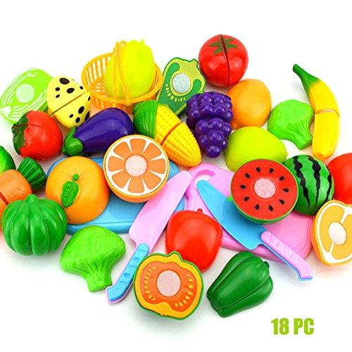 jieGorge 2017 Kinder Tun Rollenspiel Küche Obst Gemüse Lebensmittel Spielzeug Schneiden Set Geschenk