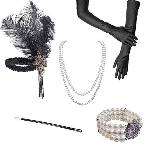 Gran traje de Gatsby Accesorios de la década de 1920 Conjunto de...