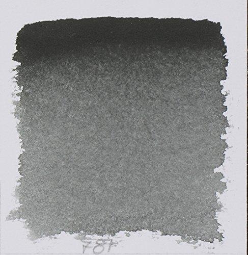 Schmincke Watercolor Pans - Lamp Black - Half Pan