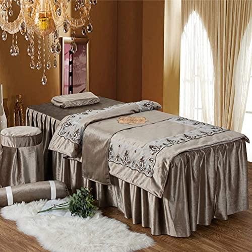 DGHJK Table de Massage en Dentelle, Ensemble de Quatre Couvre-Lits pour Salon de beauté, Ensemble...