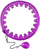 WJJ Weighted Hula Hoop Hula Hoop, Smart Hula Hoops, Smart Fitness Y Massage Hula...