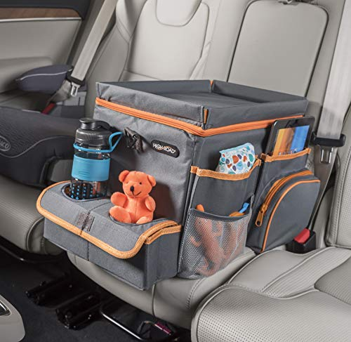 High Road CarHop Car Seat Organizer for Kids and Adults with Tray and Cooler Compartment (Large)