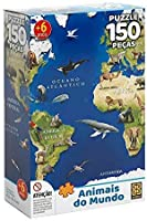Quebra-cabeça 150 Peças Animais Do Mundo, Grow, Multicor