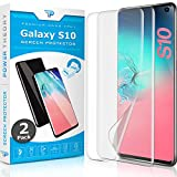 Power Theory Samsung Galaxy S10 Screen Protector Film [2-pack] - [Not Glass] Full Cover, Case Friendly, Flexible Anti-Scratch Film