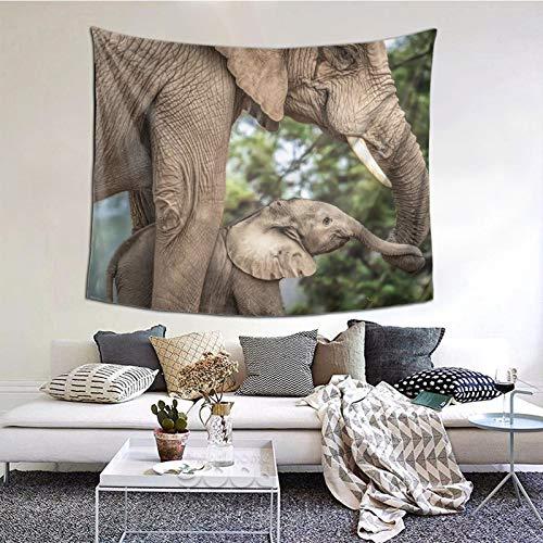 Perfect household goods Tapiz de elefante para colgar en la pared, tapiz vintage, tapiz de microfibra de melocotón, decoración del hogar, 152 x 132 cm