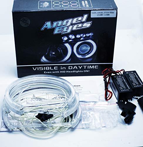 CCFL Angel Eyes Kit, 2 x 131 mm + 2 x 146 mm Canbus E46 E90 E91 ohne Projektor Weiß 6000 K, Engelsaugen Halo Ringe