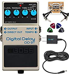 BOSS DD-3T Digital Delay Pedal with Tap Tempo Bundle Review