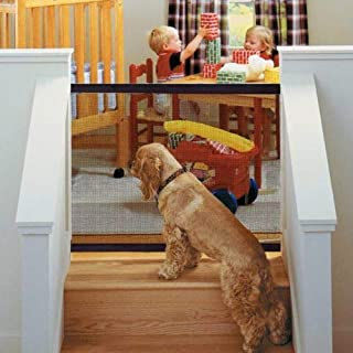 Magic-Gate Dog Pet Fences Portable Folding Safe Guard Indoor and Outdoor Protection Safety Magic Gate for Dogs Cat Pet (Black)