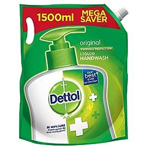 Dettol Original Germ Protection Handwash Liquid Soap Refill, 1500ml & Bathing Soap bar, 125 gm, Buy 4 Get 1 Free 16 51ndHwJyiRL. SL500 . SS300