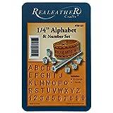West Coast Paracord – Juego de sellos de números y alfabeto de Realeather Crafts – Tamaño de sello de 1/4 pulgadas