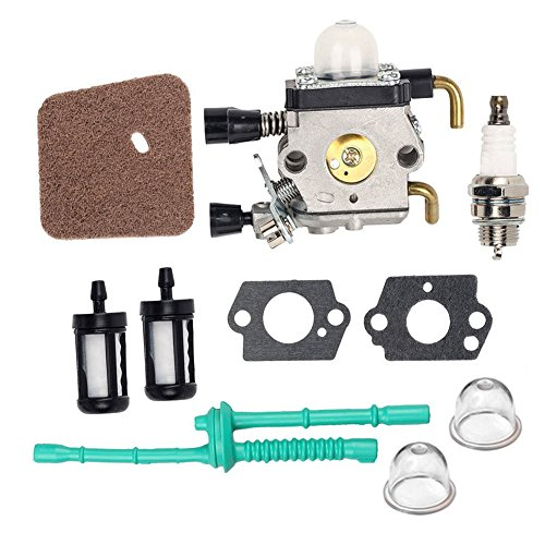 OuyFilters C1Q-S97 Carburetor with Air Filter Fuel Line Kit for STIHL FS38 FS45 FS46 FS55 FS45C FS46C FS55C FS55R FS55RC Trimmer KM55 KM55C Kombi Motor