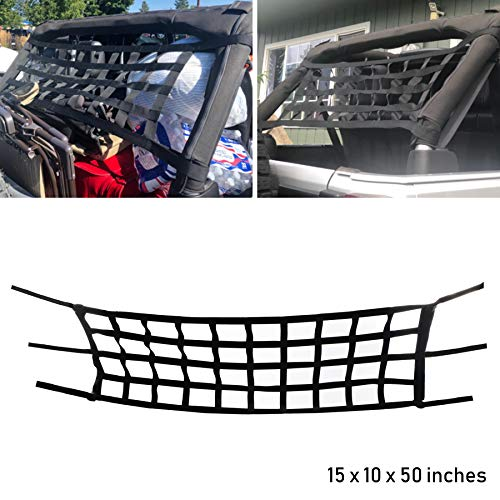 AEagle Heavy Duty Tailgate Cargo Net for Mid Size Pickup Compact Truck Cab Truck Bed
