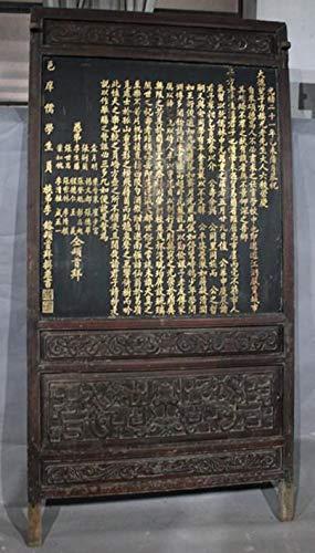 Fine Asianliving Antiek Chinees Paneel 1820-1850 Shanxi-China. Handgeschreven