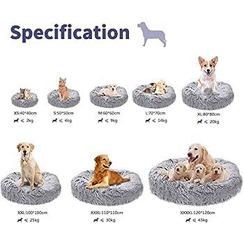 Puppy Love Panier Chien, Coussin Chien Anti Stress XXXL Dehoussable,Paniers Et Mobilier pour Chiens, Lit Moelleux Rond pour Chien, Lavable, Confortable#2-110cm