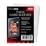 Ultra Pro Clear Thick Card Sleeves | Holds cards up to 130-Point | 100-Count
