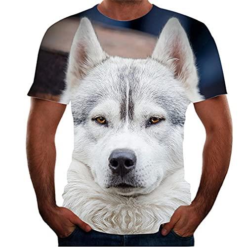Correr Shirt Hombre Verano Cuello Redondo Moderno Hombre Casuales Camisa Moda Novedad 3D Impresión Manga Corta Deportiva Camisa Ajustado Tendencia Creativa Suelta Hombre T-Shirt T01 6XL