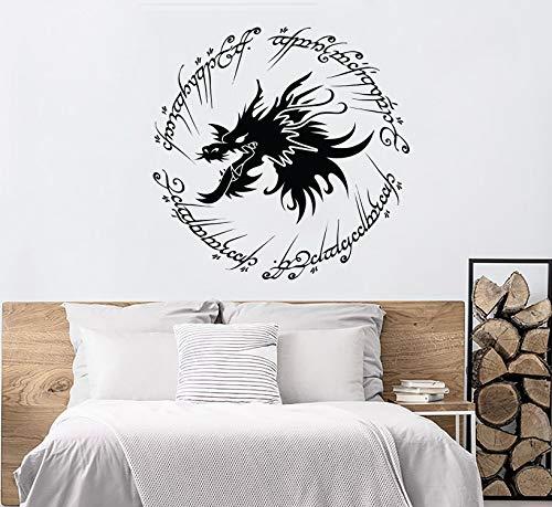Dragon Lord of The Rings Muurstickers Lord of The Rings Muursticker Geïnspireerd Elvish Ring Muurdecoratie LOTR Wall Art Kwekerij Slaapkamer N34