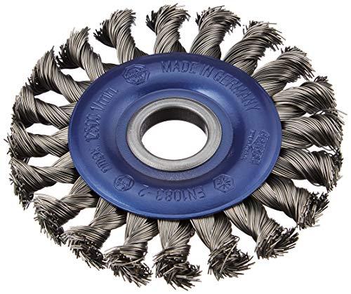 Osborn 2631151 haakse slijper 115 mm, ronde borstel D115x12 mm boring 22,2 mm getopte staaldraad 0,50 mm TÜV getest