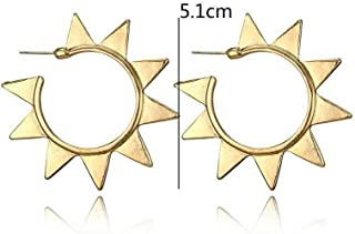 Hollow Round Punk Exaggerated For Women Gear Earrings Ethnic Style Gear Shape Best Accessory Good Jewerly Design Cheap Bright Designer Novelty Girls Prom Brides