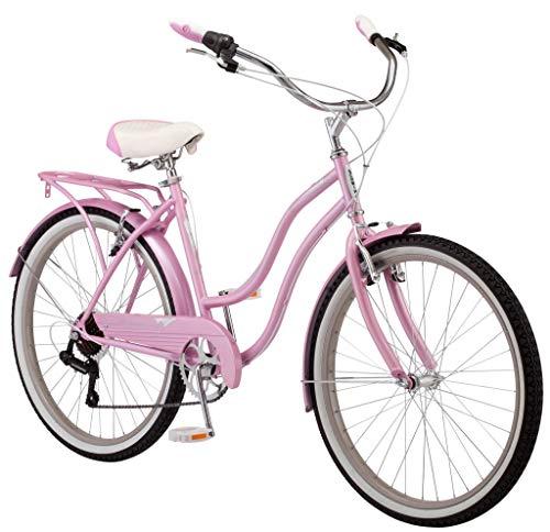 Schwinn Perlaレディースビーチクルーザーバイク、26インチホイール、ピンク