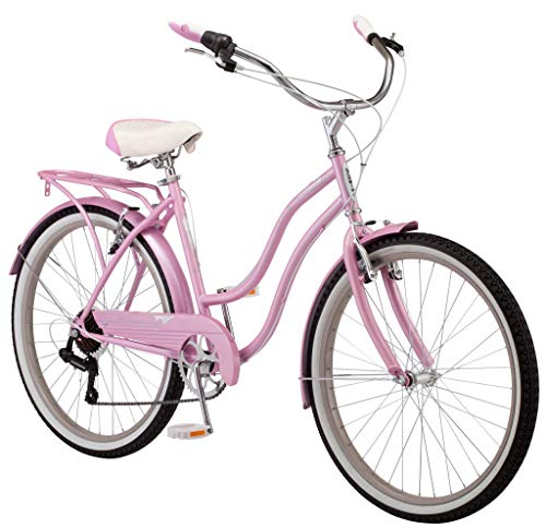Schwinn Perla Womens Beach Cruiser Bike, 26-Inch Wheels, Pink