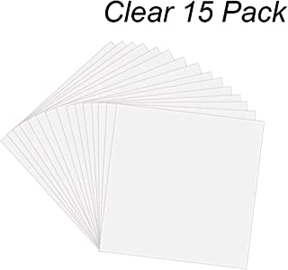15 Pack 6 Mil CLEAR Mylar Stencil Sheets, 12