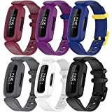 ECSEM Replacement Bands Compatible with Fitbit Ace 3 Smart Watch,Soft Silicone Watch Band for Fitbit Ace 3 for Kids(6ColorA)
