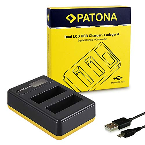 PATONA Cargador Doble LCD USB para EN-EL14 Bateria Compatible con Nikon D3100 D3200 D5100 D5200 D5300 P7000 P7100 P7700 P7800