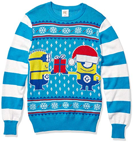 Despicable Me Men's Holiday Jam Sweater, Blue, XX-Large