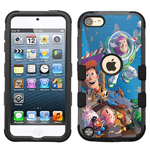 for New iPod Touch, iPod Touch 5/6, Hard+Rubber Dual Layer Hybrid Shockproof Rugged Armor Cover Case - Toy #ZC
