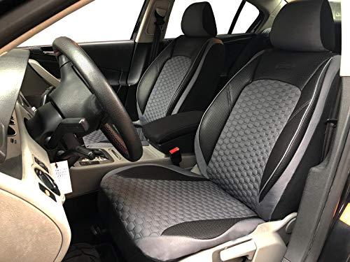 seatcovers by k-maniac V1708190 Fundas de Asiento para Opel Astra G, universales, Color Negro y Gris