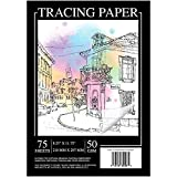 Sodaxx A4 Artists Tracing Paper - 75 Sheets Translucent Vellum Paper for Art and Crafts Pencil, Marker and Ink - Trace Images, Sketching, Preliminary Drawing 32LB/ 50GSM