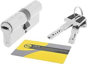 Yale, HSK3045NM4, veiligheidscilinder, HSK, dubbele koppeling, lange camera, sleutel, vernikkeld, 30 x 45 mm