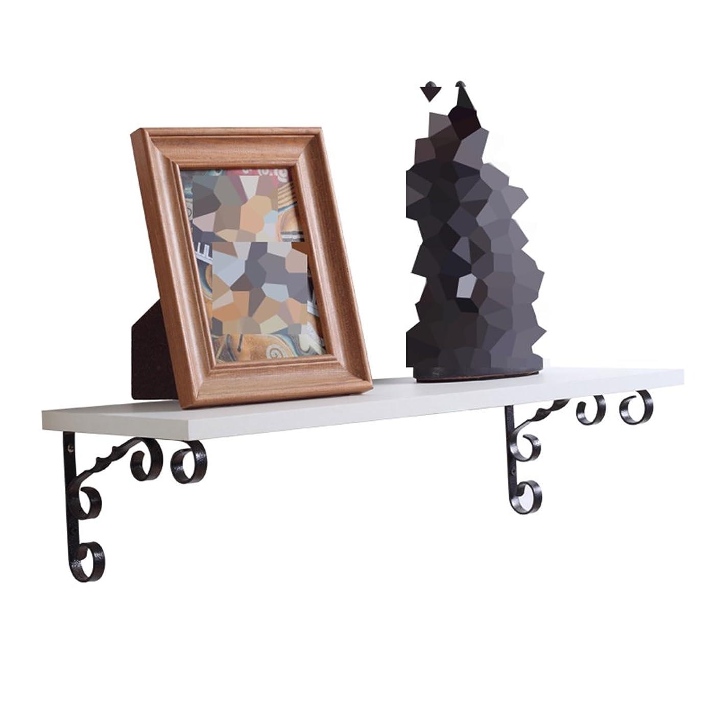 小間シャイジェムアイアンアートラック、シンプルでモダンなエレガントな創造的な寝室のリビングルームの壁の棚、テレビの背景の壁フラワーラック装飾 ウォールマウント (Color : A, Size : 80cm*25cm)