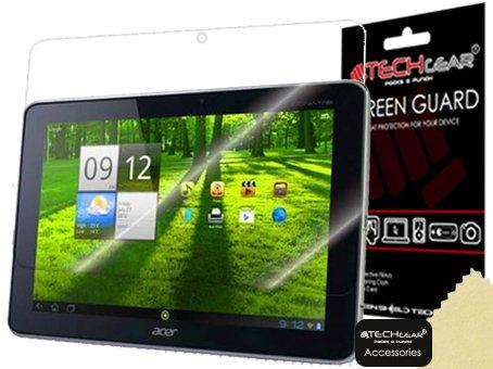 TECHGEAR [3 Stück Displayschutz für Acer Iconia Tab A700 - Ultra Klare Schutzfolie - mit Reinigungstuch + Applikationskarte