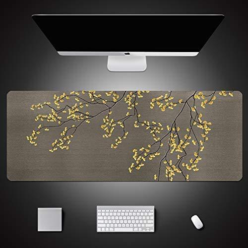 KCGNBQING Alfombra de ratón de juego, 800x300mm espesor, estera de ratón extendida, sin deslizamiento, almohadilla de escritorio resistente a los derrames con superficie lisa, bordes cosidos anti-frit